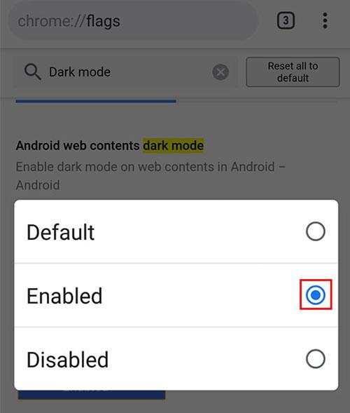 Cách kích hoạt Dark Mode cho trình duyệt Chrome trên Android